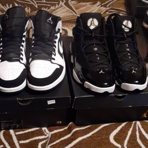 2 pairs of jordan retros